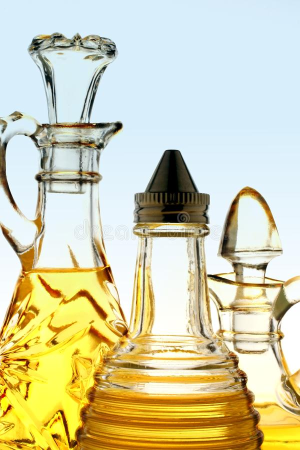 Olive Oil Bottles royalty free stock images