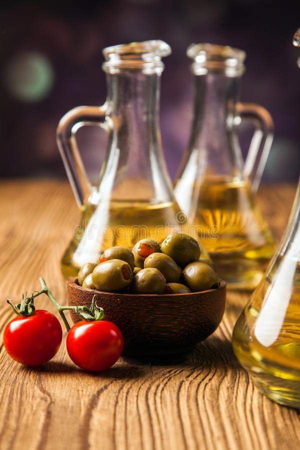 Download Olive oil in bottles stock photo. Image of kitchen, natural - 36142648