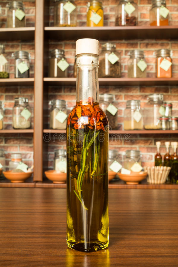 Download Olive oil with chilli stock image. Image of cereal, spice - 39505641