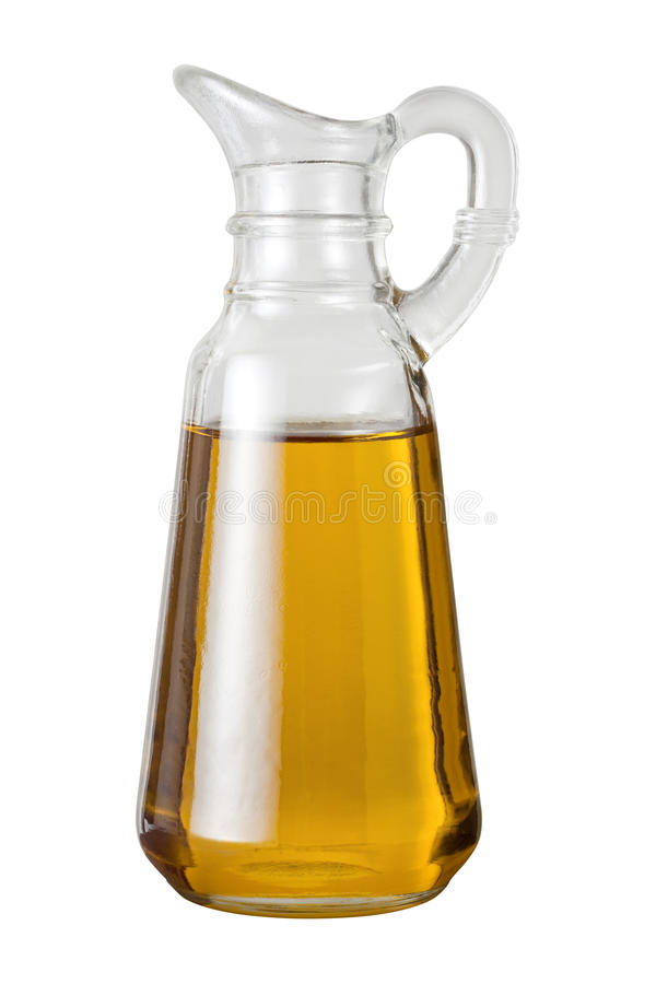 Olive Oil Cruet (with clipping path). Isolated on a white background royalty free stock image