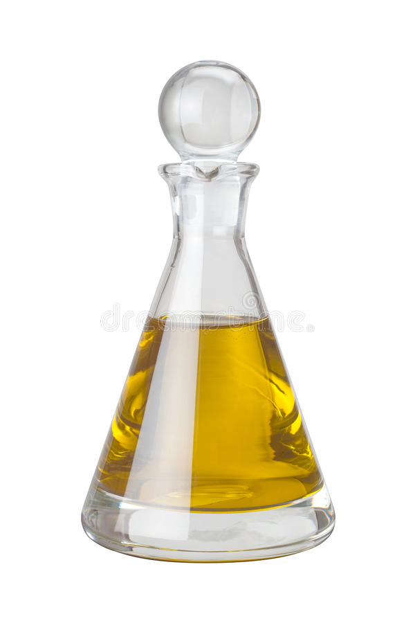 Olive Oil Cruet (with clipping path). Isolated on a white background. Isolation is on a transparent layer in the PNG format royalty free stock photography