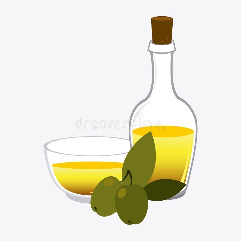 Olive oil design. Olive oil design over white background, vector illustration royalty free illustration