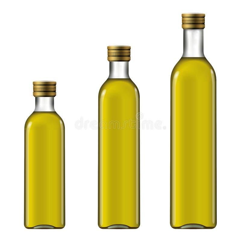 Olive Oil Extra Virgin Modelo da garrafa ilustração stock
