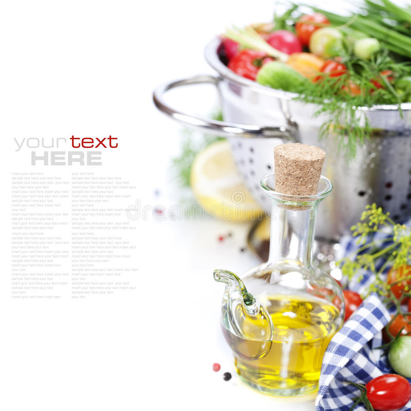 Download Olive Oil And Fresh Vegetables Stock Image - Image: 20541059