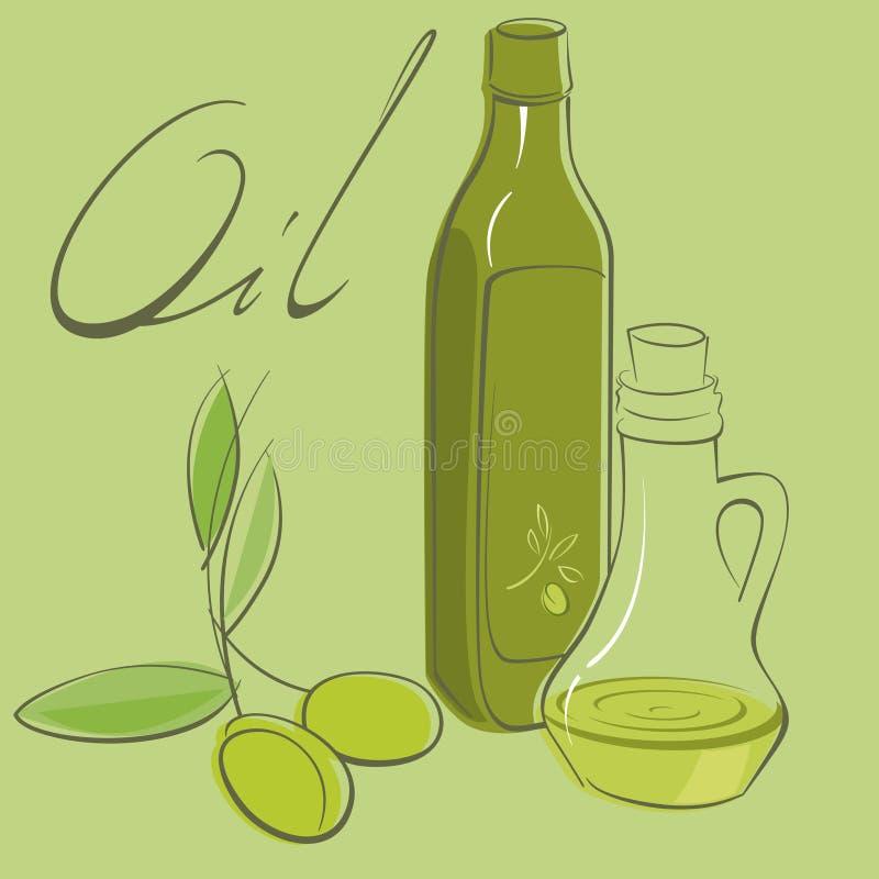 Download Olive oil stock vector. Image of cruet, vector, text - 30929487