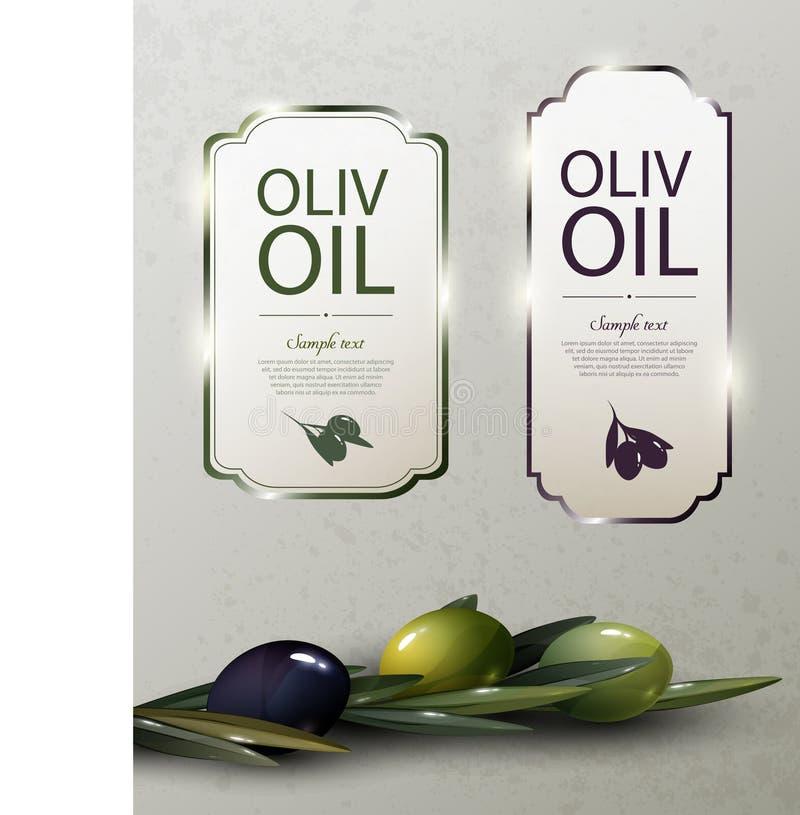 Olive Oil Glossy Brand Logos libre illustration