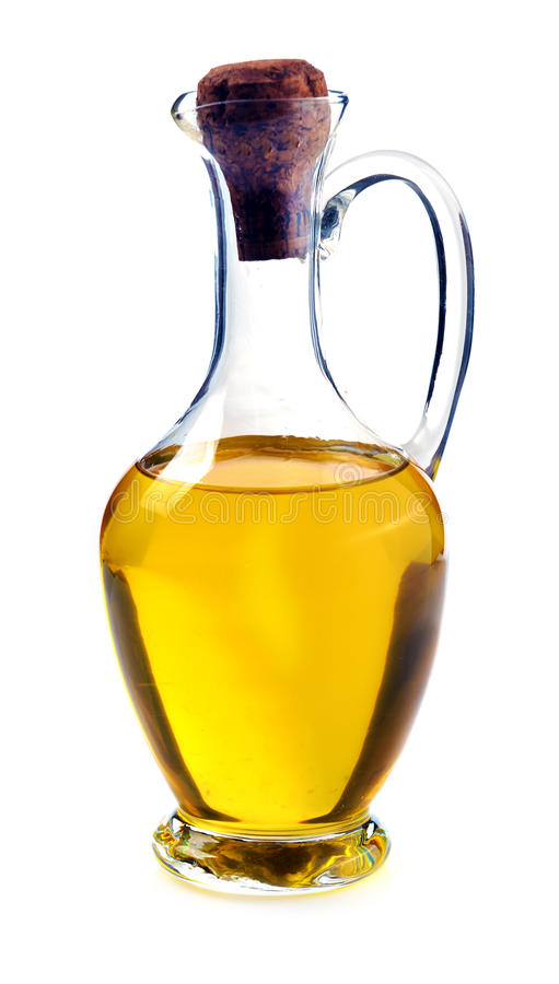 Olive oil in a jar royalty free stock image