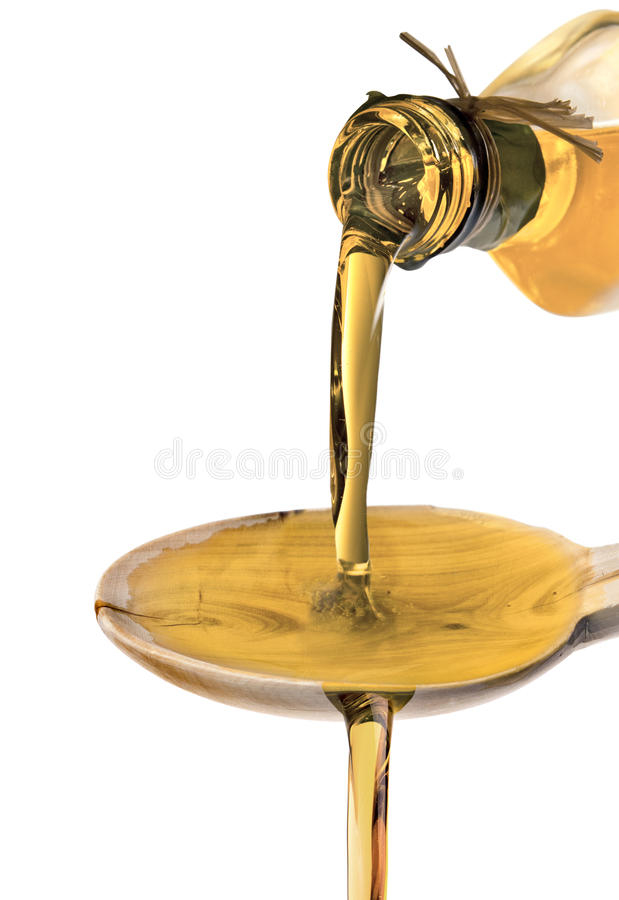 Olive Oil Poured stock images