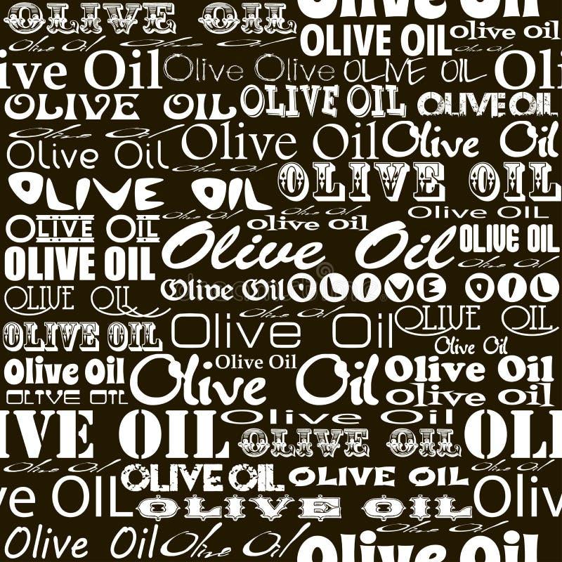 Olive oil seamless pattern. royalty free illustration