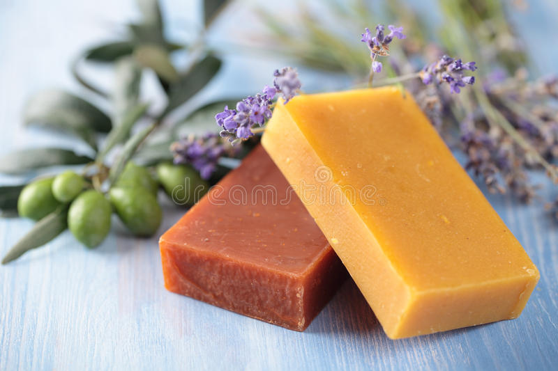Olive oil soap royalty free stock photo