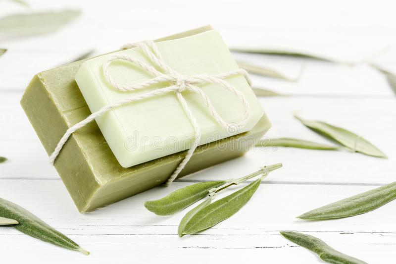 Olive oil soap stock photos