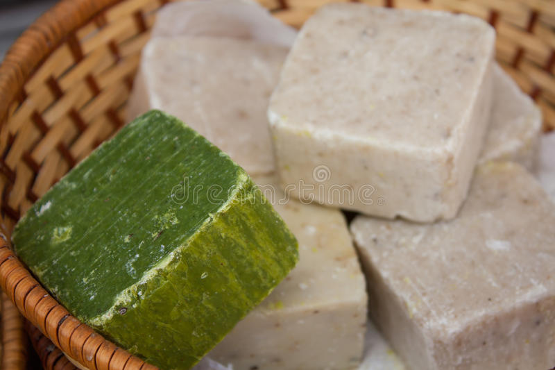 Turkish olive oil soap and organic soap bars stock photos