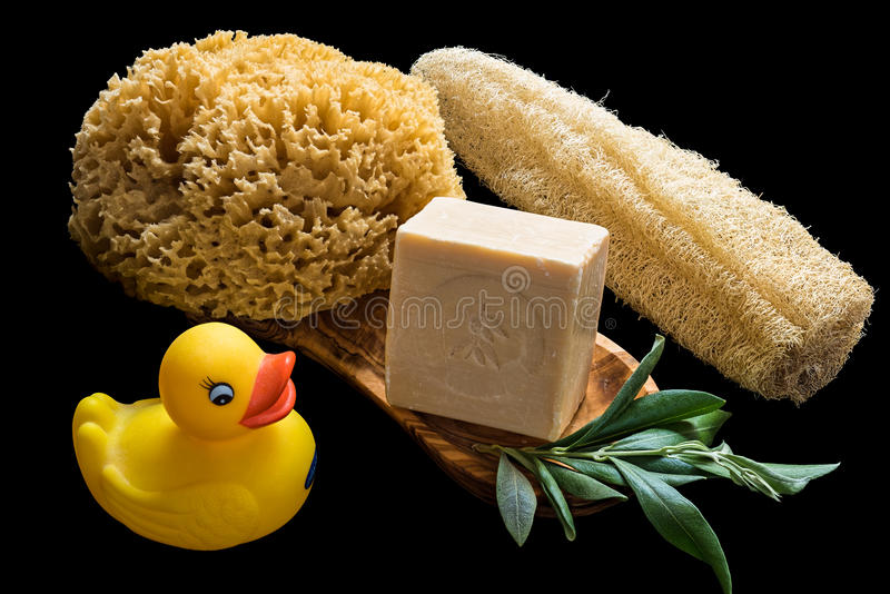 Olive oil soaps royalty free stock photo