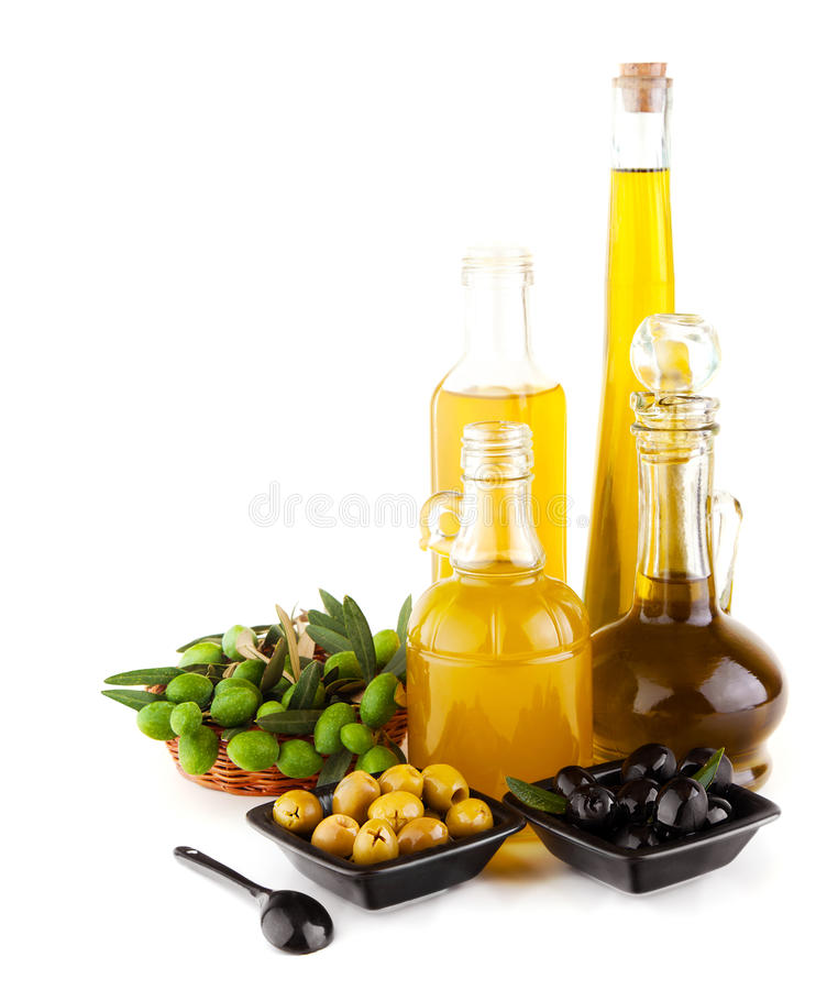 Olive oil still life royalty free stock photography