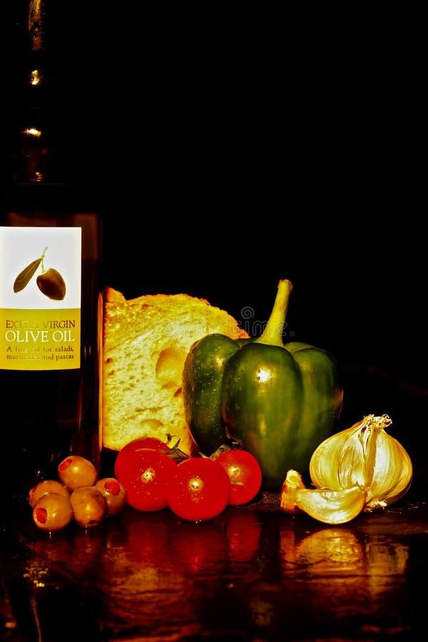 Olive Oil y consumición sana fotografía de archivo