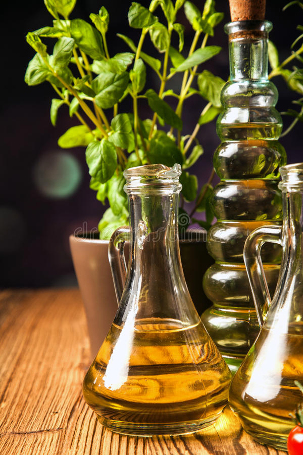 Download Olive Oils In Bottles With Ingriedients Stock Photo - Image: 36142690