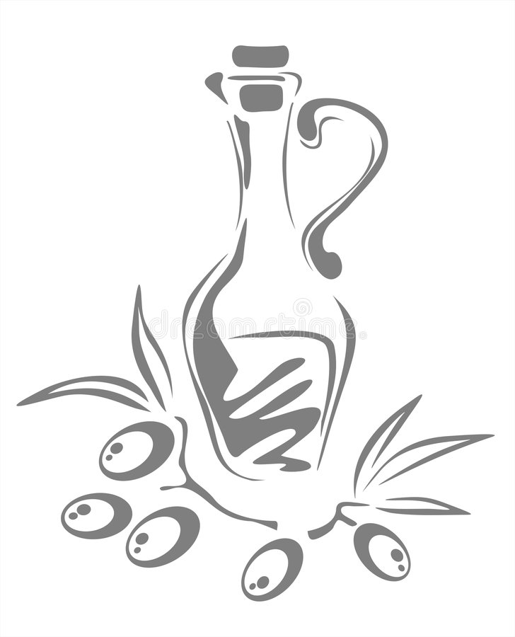 olive oleju ilustracja wektor