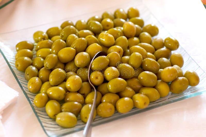 Olive salad stock image