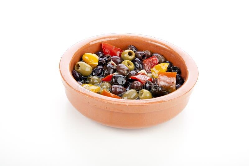 Olive spagnole dei Tapas fotografia stock libera da diritti