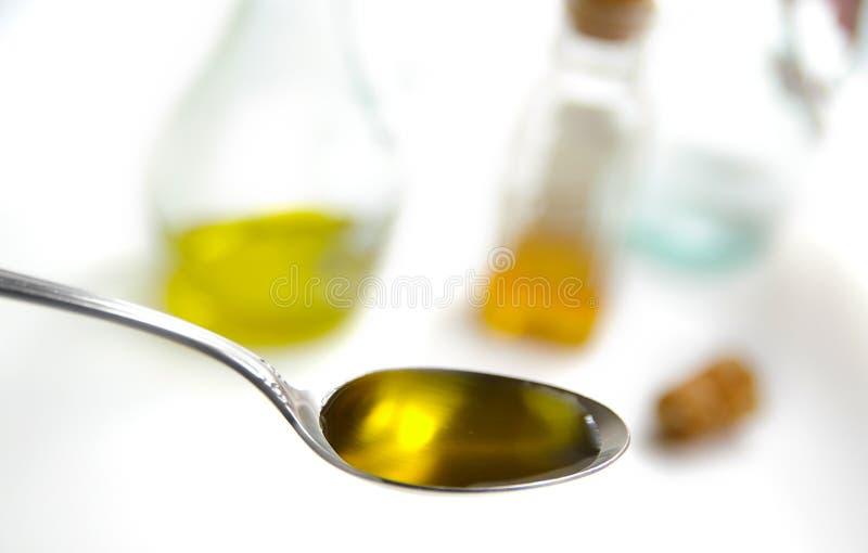 olive spoonful oleju fotografia royalty free