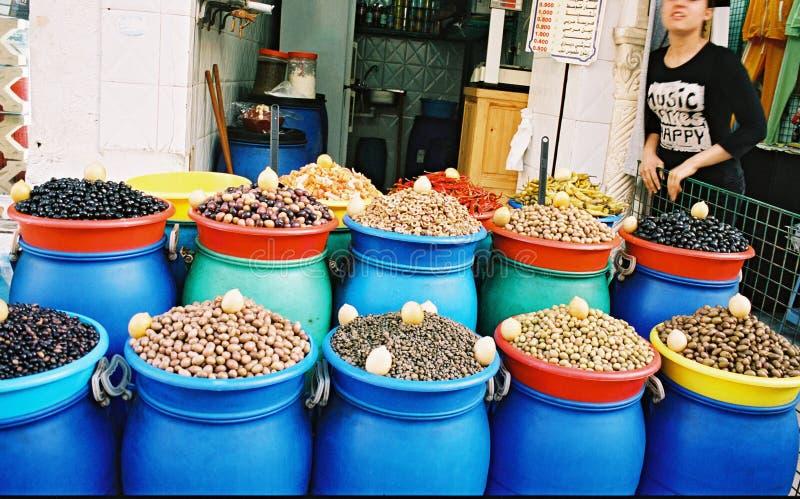 Olive sul servizio orientale immagine stock