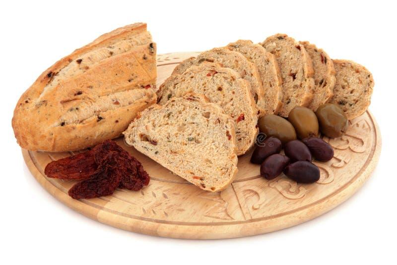 Olive and Sun Dried Tomato Bread stock image