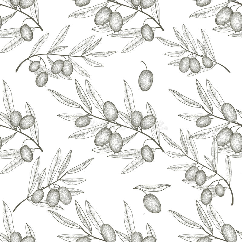 olive tree vector pattern
