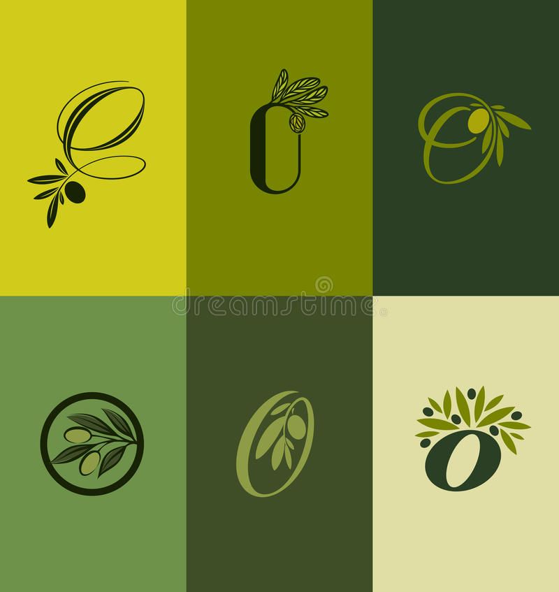 Download Olive Tree Branch. Set Of Labels. Vector Illustration Stock Vector - Image: 35470673
