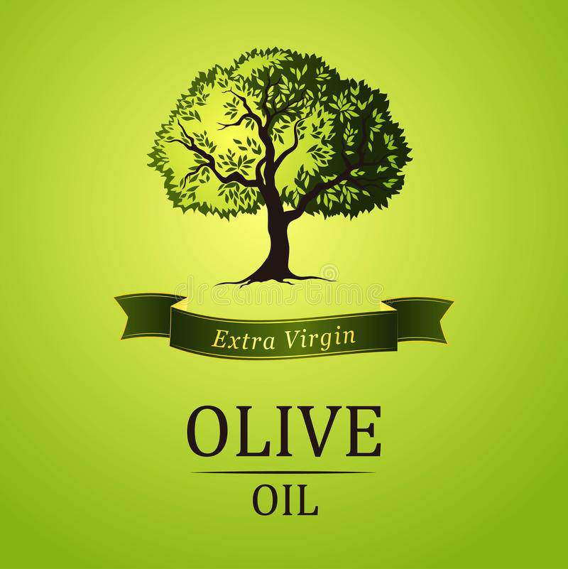 Free Olive Tree. Vector Green Tree.yellow Green Leaves Royalty Free Stock Photos - 43718798