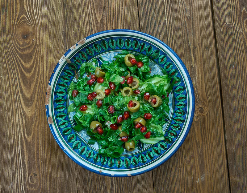 Olive Turkish sallad royaltyfri foto