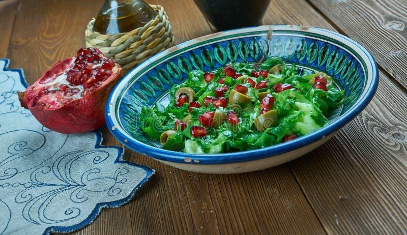 Olive Turkish sallad royaltyfri bild