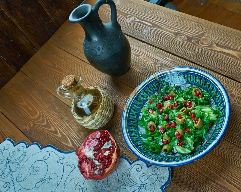 Olive Turkish sallad arkivbilder