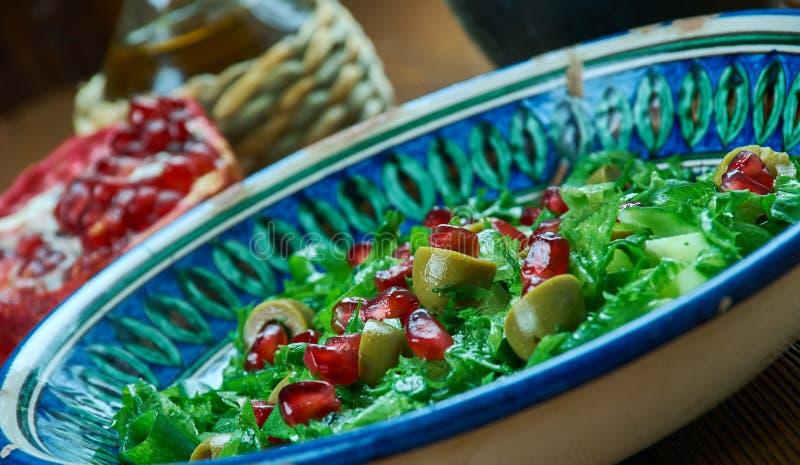 Olive Turkish sallad arkivfoton
