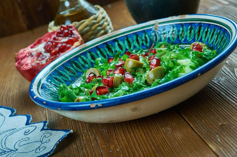 Olive Turkish sallad royaltyfria bilder