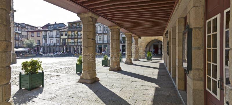 Oliveira Square Guimaraes, Portugal royaltyfri foto