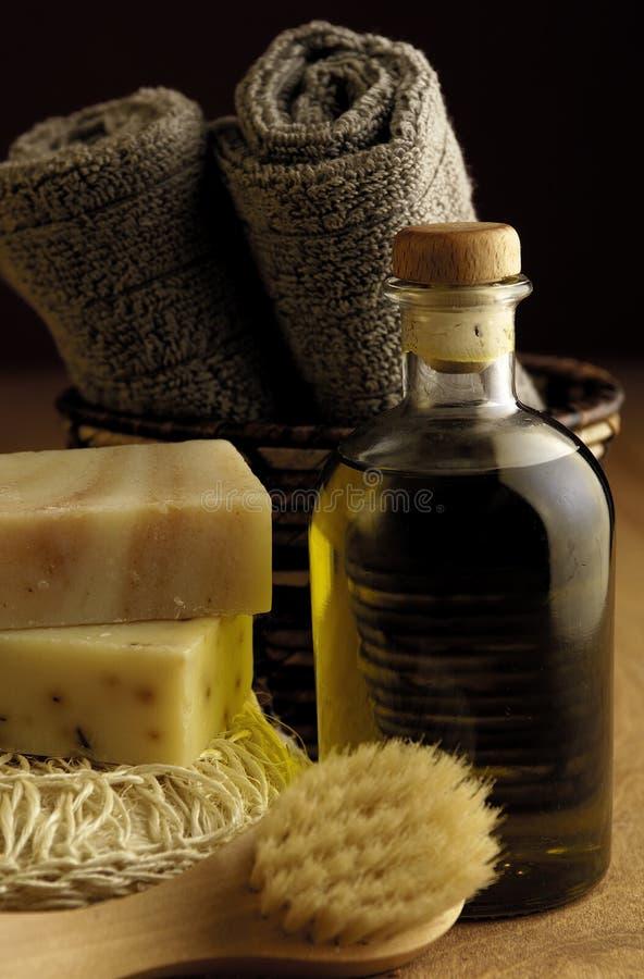 Olivenöl-Bad lizenzfreies stockfoto
