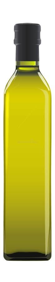 Olivenöl-Flasche lizenzfreie abbildung