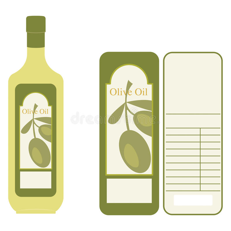 Olivenöl-Kennsatz vektor abbildung