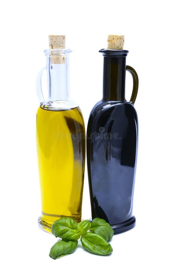Olivenöl und Essig stockfotografie