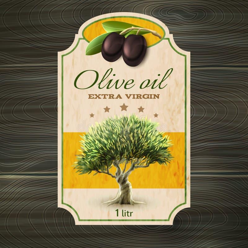 Olivenölaufkleberdruck vektor abbildung