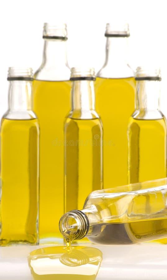 Olivenölflaschen stockfoto