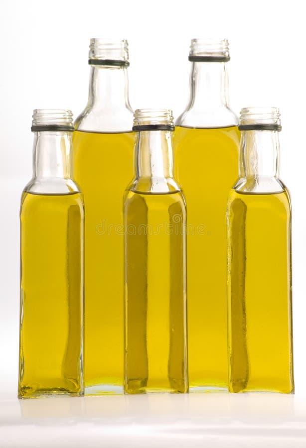 Olivenölflaschen stockfotografie