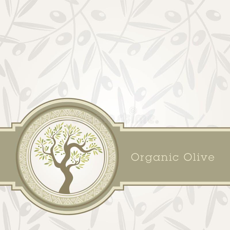 Olivenölkennsatzschablone stock abbildung