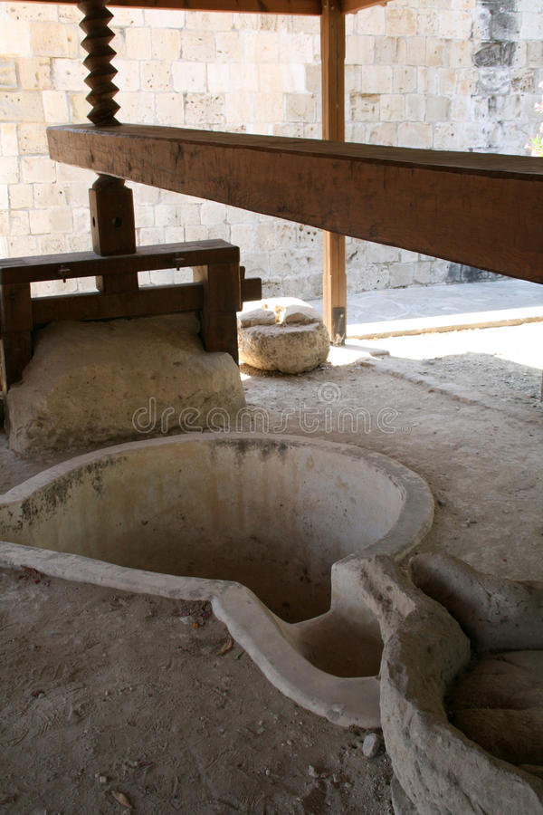 Olivenölpresse. Zypern lizenzfreies stockfoto