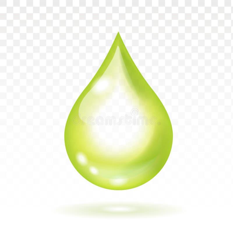 Olivenöltropfen realistisch Auch im corel abgehobenen Betrag lizenzfreie abbildung