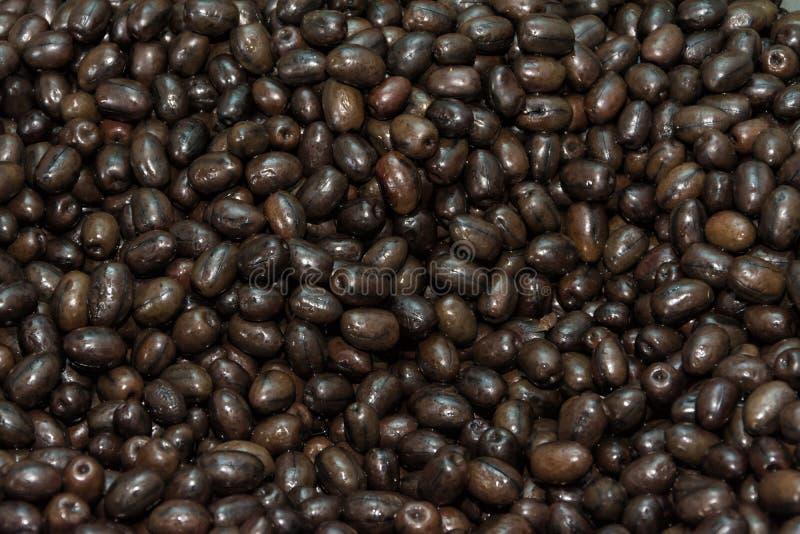 Oliven in der Masse stockfotos