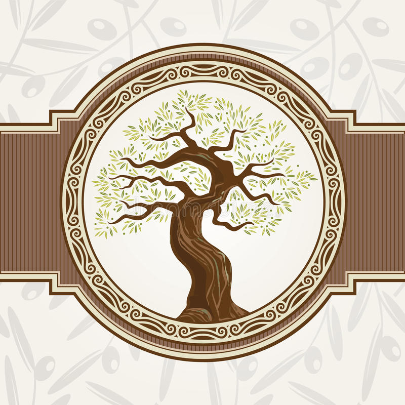 Olivenbaumvektor stock abbildung