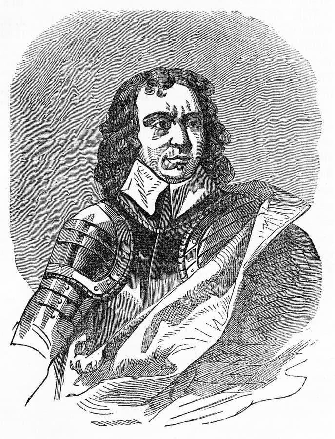Oliver Cromwell Lord Protector dopo Charles I illustrazione vettoriale