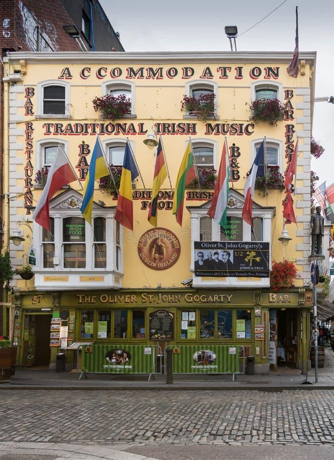 The Oliver St. John Gogarty pub, Dublin Ireland. stock photos