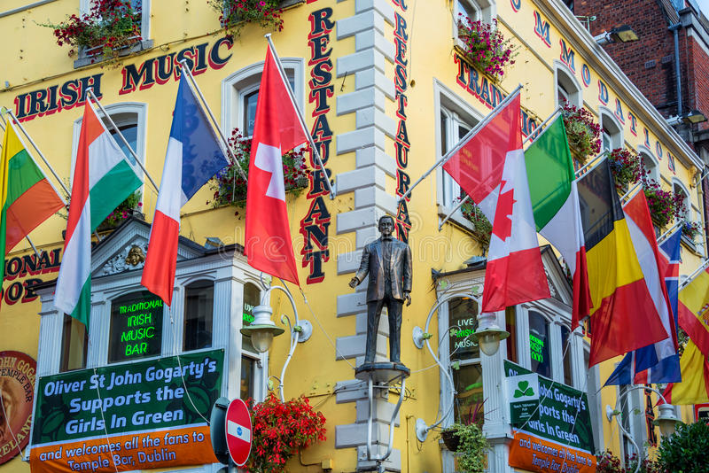 Oliver St John Gogarty pub and guesthouse, near Temple bar, in Dublin Ireland stock image